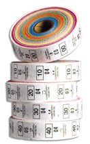 Roll Lot®Tags Dry Cleaning (400-499) - Multi Color - Dry Cleaning Tags