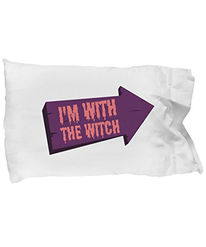 Pillow Covers Design I'm with The Witch Halloween Couples Costume Gift Pillow Cover Ideas