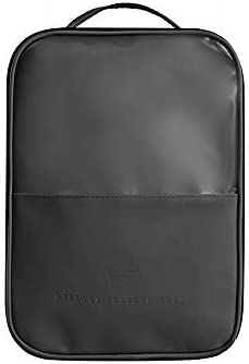 旅行用収納袋 靴収納袋大型パッキングキューブ旅行オーガナイザー防水トラベルアクセサリー靴オーガナイザー ハンドロールアップ再利用可能な服 (色 : Black, Size : Free size)