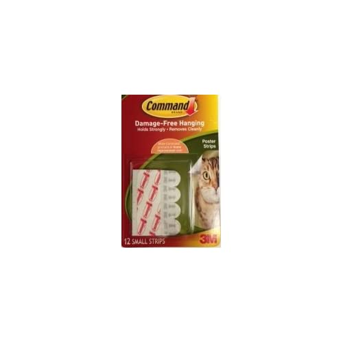 (Pack of 5) Command Poster Strips ,white , 12 ct ea