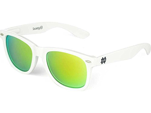 NCAA Notre Dame Fighting Irish  ND-6- White Frame, Gold Lens Sunglasses, White, One - Today Notre Dame Game