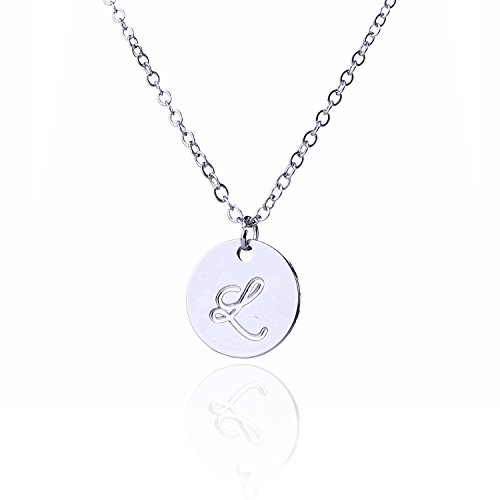 L necklace amazon aolo discs initial pendant necklace friendship jewelley l aloadofball Gallery