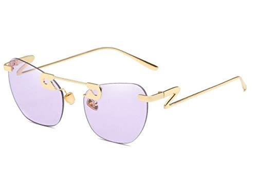 sol de Golden Marco Sin Unisex Decoración Z Piernas Protección UV400 Moda FlowerKui Gafas qR4wpp