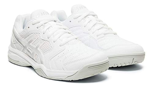 ASICS Gel-Dedicate 6 Women's Tennis Shoes, White/Silver, 10 M US
