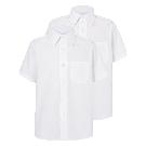 Boys White Short Sleeve School Shirt 2 Pack | School | George