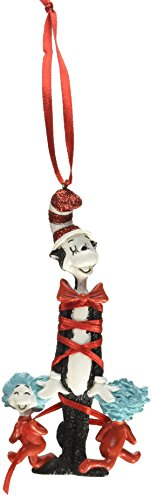 Department 56 Dr. Seuss Cat in the Hat Bow-Tied Cat with Things Hanging Ornament ()