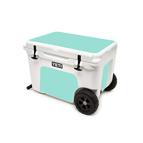 MightySkins (Cooler Not Included) Skin Compatible with Yeti Tundra Haul Cooler - Solid Seafoam | Protective, Durable, and Unique Vinyl Decal wrap Cover | Easy to Apply | Made in The USA (Chest Ice Unique)