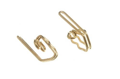 Lot Of 2000 Curtain Header Tape Hooks Eb Brass Plated Metal by DIRECT HARDWARE