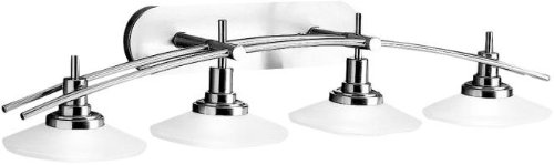 - Kichler 6464NI Structures Bath 4-Light Halogen, Brushed Nickel