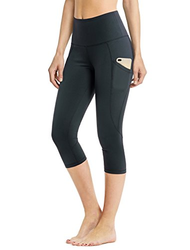 Side Cell (Safort High Waisted Yoga Capri,Side Pockets For 6