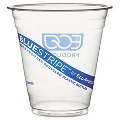 Bluestripe Recycled Content Cold Drink Cups, 9 Oz., 50/Pack ECOEPCR9PK
