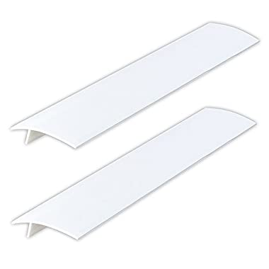 Silicone Stove Counter Gap Covers - White (2 Pack)