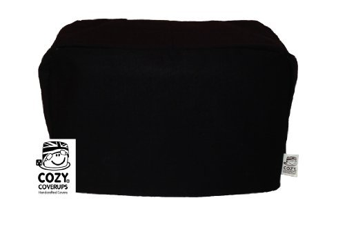 CozyCoverUp for Dualit Toasters 100% cotton Handmade in the UK (Black, 3 Slice Classic Vario New Gen)