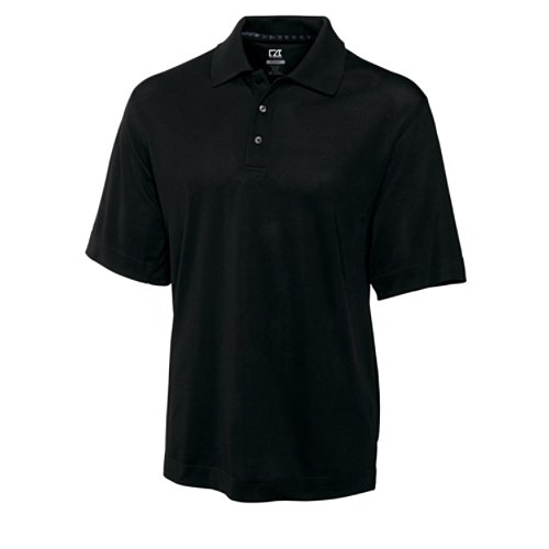 Cutter & Buck Men's Big-Tall CB Drytec Championship Polo, Black, 3X-Large/Tall