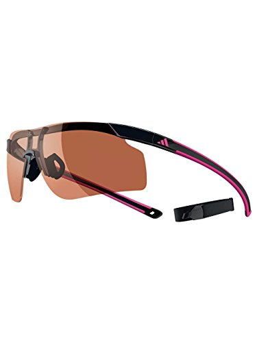 adidas Adizero Tempo Pro L Rectangular Sunglasses, Black & Pink, 62 - Adizero Sunglasses