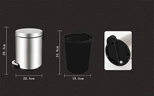 滑らかな表面 オフィスリビングルームバスルーム用ふたソフトを閉じると、取り外し可能なインナーごみ箱ペダルゴミ箱ラウンドキッチンごみ箱、 リサイクル可能なデザイン (Color : A, Size : 6L-28.3*20.5CM)