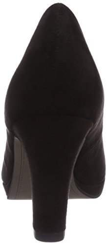 Tamaris 22420 - zapatos de tacón cerrados de lona mujer negro - negro