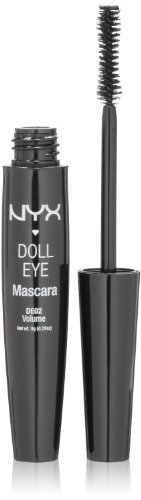 NYX Doll Mascara Eye, Extreme Black , Volume, DE02