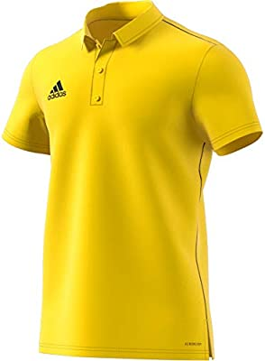 adidas Core 18 Polo, Hombre, Yellow/Black, M: Amazon.es: Deportes ...