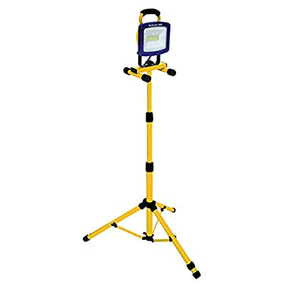 Voltec 08-00727 Tripod LED Work Light, Yellow with Blue face Frame