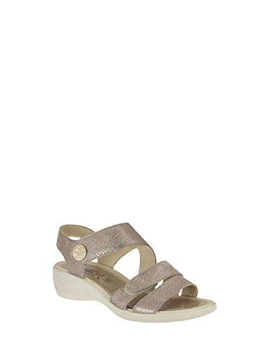 Enval 7969 Sandalo zeppa Donna Platino 38
