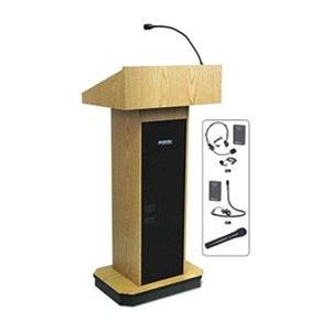 AmpliVox - SW505-OK/S1605 - Lectern w/Sound, Oak, 46-1/2x22x15 (S1605 Lectern)