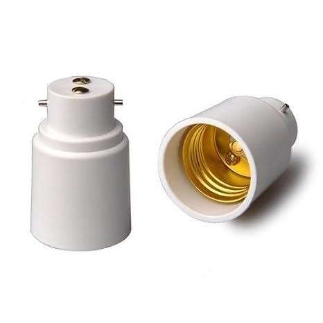B22 to E27 Socket Converter,BC to ES Extend Lampholder Base,Bayonet to Edison Screw Socket Adapter for LED CFL Smart RGB Playbulb Music Light Bulb Speaker