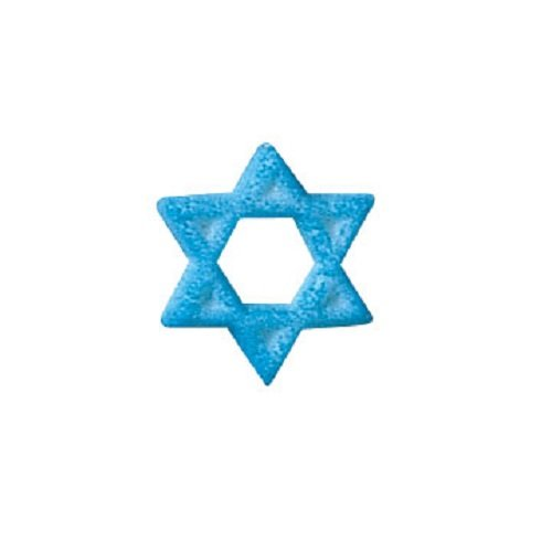 Of Cake Star David (Lucks Dec-Ons Decorations Molded Sugar/Cup-Cake Topper, Star of David, 1 Inch, 154 Count)