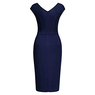 Miusol Women's Vintage Slim Style Sleeveless Business Pencil Dress at Women's Clothing store