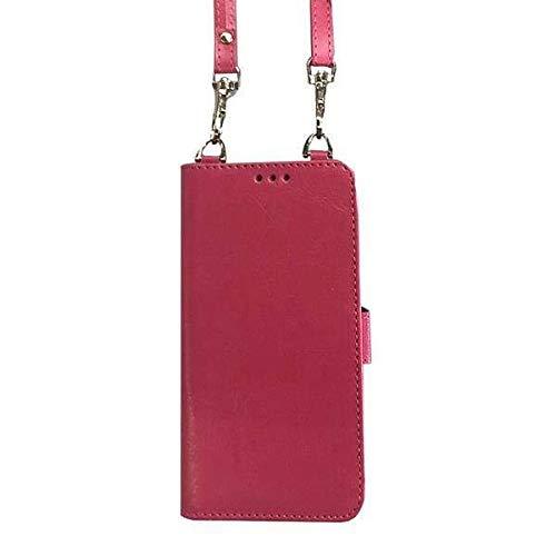 Samsung Galaxy S7 Edge Bandolier Style Multicard Crossbody Wallet Case, Hot Pink