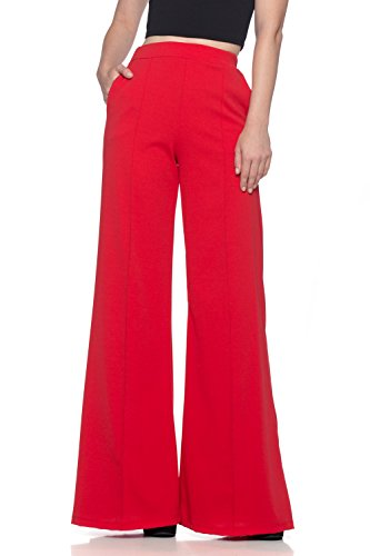 Cemi Ceri Women's J2 Love Flowing Palazzo Pants, Large, Red ()