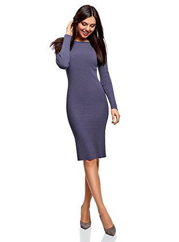 Tricote oodji Bleu 7500n Robe C Collection tes Femme tHHP8wq