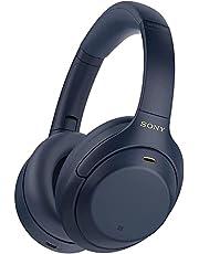 Sony WH1000XM4 draadloze hoofdtelefoon met ruisonderdrukking (Bluetooth, adaptief geluid, DSEE Extreme processor, Alexa en Google Assistant, 30 h accu) - Blauw