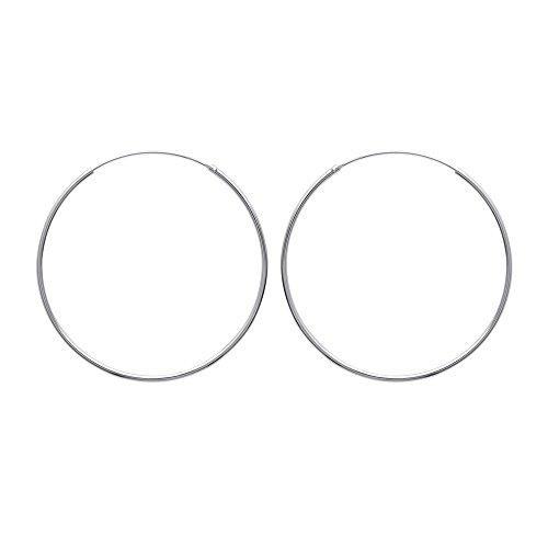 Tousmesbijoux Boucles d'oreilles créoles 50 mm Argent 925/00