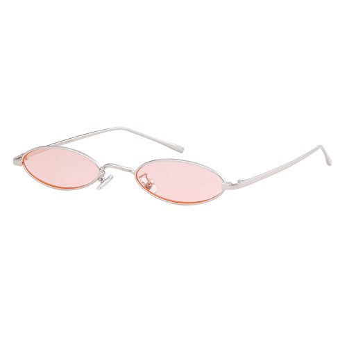 Steampunk Oval Sunglasses For Unisex Metal Frame Chic Clear Small Lens - Trend Sunglasses Clear