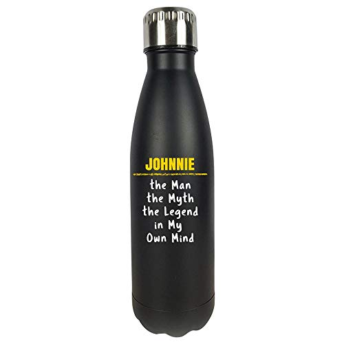 JOHNNIE Man Myth Legend in My Own Mind Sarcastic Funny Saying Name Pride Gift - Vacuum Sealed Water Bottle