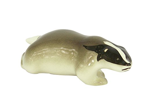 Badger Running Forest Lomonosov Porcelain Collectible Figurine