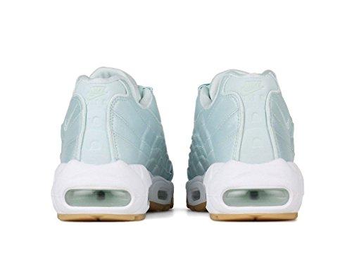 Nike Air Max 95 Wq In Fibra Di Vetro Satinata Bianco Gomma Gialla 919491-301 Misura Donna 6.5