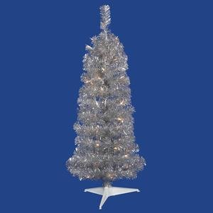Vickerman Colorful Pencil Silver Christmas Tree with 50 C...