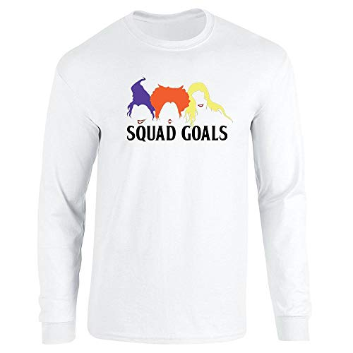 Pop Threads Squad Goals Witches Halloween Costume White XL Long Sleeve T-Shirt ()