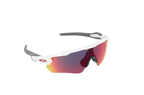 Oakley Men's Radar EV Path OO9208-18 Non-Polarized Iridium Shield Sunglasses, Polished White, 138 - Radar Oakley Polarized