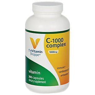 The Vitamin Shoppe C1000 Complex 1,000MG, Antioxidant That Supports Immune Cardiovascular Health (300 Capsules)