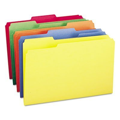 File Folders, 1/3 Cut Top Tab, Legal, Assorted Colors, 100/Box, Sold as 100 Each by Smead