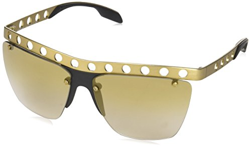 (Prada PR53RS TWF2G2 Matte Brushed Bronze PR53RS Square Aviator Sunglasses Lens)
