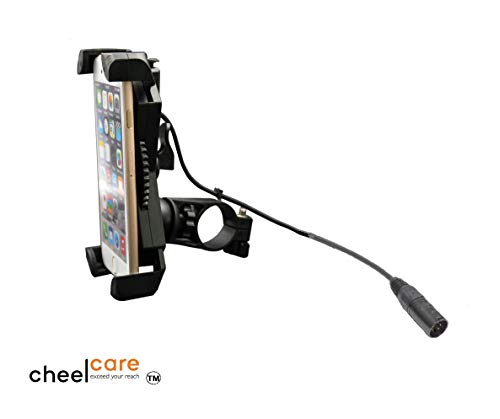 Mobile Phone Holder with USB Charger for Mobility Scooters and Power Chairs