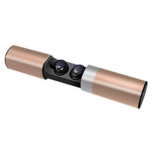 Lyperkin トゥルーワイヤレスツインイヤホン - TWS Bluetooth 4.2 ミニインイヤーヘッドホン ステレオサウンド 長時間再生 防汗スポーツイヤホン ヘッドセット内蔵マイク ノイズキャンセリングステレオ 電話用, CA1-5173  ローズゴールド B07K6R4L61
