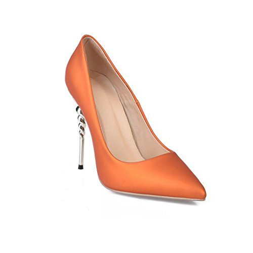 LBDX Heels Sexy Shoes de Naranja Zapatos Pointed Mujer Single High Fashion SFnxwRn