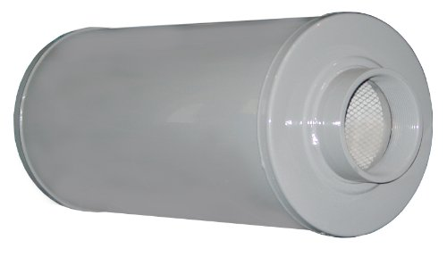 Solberg SLCR400 Absorptive Silencers, 4'' FPT Inlet/Outlet, 24-11/16'' Height, 980 SCFM by Solberg