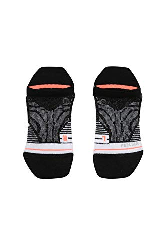 Stance Women's Shiny Zebra Tab Socks,Medium,Black
