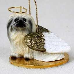 1 X Pekingese Angel Dog Ornament